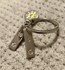 WW WEIGHT WATCHERS KEY CHAIN w 5 and 10 POUND CHARMS PLUS Summer Sun Charm