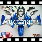 For Kawasaki ZZR400 93-07 ZZR600 98-03 Fairing ABS Plastic Blue Silver 8c1 PA
