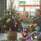 Christmas Tree Ornaments DIY Diamond Painting Special-shaped Home Party Pendants