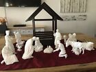 Lenox Vintage White Bisque Nativity Set with Creche