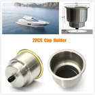 2PCS Cup Drink Holder Marine Brush For Boat Car Truck Camper RV Stainless Steel