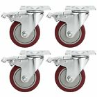 Coocheer 4 Pack Of 4 Heavy-duty Pvc Caster Wheels Swivel Casters 1200 Lbs Gift