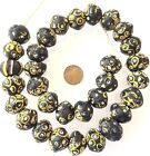 old Rare Venetian King Bicone Wound Antique African Glass Trade beads Ghana