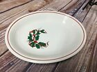 Fiestaware Holly and Ribbon Oval  Platter Fiesta Christmas Holiday 11""