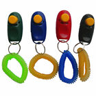 Portabble Dog Pet Click Training Obedience Trainer Clicker Aid Wrist Straps US