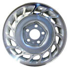 OEM Used 15x6 Alloy Wheel Rim Sparkle Silver Painted with Machined Face 7016