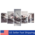 5Pcs Large Abstract Flower Canvas Print Art Painting Wall Picture Decor A S N