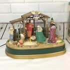 Mr Christmas Manger Animated Musical Lighted Nativity Moves Plays 20 Songs 1998