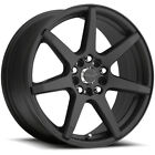 4 NEW 17 Inch Raceline 131B Evo 17x75 5x108 5x1143 +20mm Black Wheels Rims