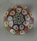 Small Perthshire Art Glass Paperweight Concentric Millefiori Rings