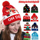 Christmas LED Lights Up Hat Beanie Knitted Santa Ugly Xmas Gifts for Adult Kids