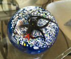 Studio Art Glass Paperweight Ocotopus Starfish Shells Marine Vintage