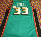 signed Grant Hill with COA autographed Detroit Pistons Basketball Jersey