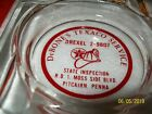 VINTAGE CLEAR & RED ASHTRAY,DeBONE'S TEXACO SERVICE,GAS STATION~PITCAIRN,PA
