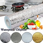 US Waterproof Oil proof Aluminum Foil Stickers 300CM Adhesive Wallpaper Kitchen