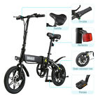Folding Electric Bike Collapsible Moped Bicycle w LED Headlight 3 Riding Modes