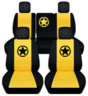 Frontrear Car Seat Covers Blk-yellow Wdeerclaw Fits Jeep Liberty 2008-2012