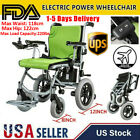 Foldable Lightweight Portable Electric Power Wheelchair Mobility Aid Motorized