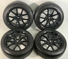 18 TESLA MODEL 3 18 OEM WHEELS AERO RIMS FACTORY OEM Gloss Black TIRES