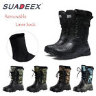 Mens Winter Camo Snow Boots Waterproof Warm Outdoor Camping Hiking Ski Boots