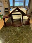RETIRED LENOX FIRST BLESSING NATIVITY CRECHE MANGER STABLE LARGE  DELUXE
