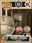 FUNKO POP! SILVER ICHIRO #51 1 51 MLB MARINERS SGA TMOBILE PARK EXCLUSIVE 09 28