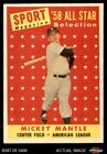 1958 Topps #487 Mickey Mantle - All-Star Yankees 6 - EX MT