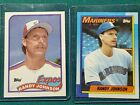 1990 TOPPS #431 RANDY JOHNSON 1989 #647 NEW OUT OF BOX