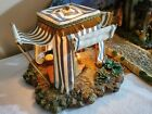 Fontanini Blue KINGS TENT NATIVITY SET 5 Collection lighted Heirloom