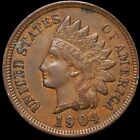 1904 Indian Head Penny LIGHTLY CIRCULATED Philadelphia High End 1c Copper Cent