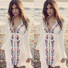 Womens Boho Gypsy Sarong Bikini Cover Up Beachwear Kaftan Tunic Dresses Swimwear