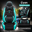Universal 5-seats Car Suv 5d Luxury Pu Full Surrounded Seat Covers Front Rear