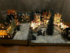 Christmas Village Display Platform Department 56 Lemax Lighted, Painted