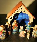 Jim Shore Deluxe Away in a Manger Mini Nativity Heartwood Creek Set 9 In Box