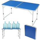 4 In 1 Adjustable Height Folding Camping Hiking Fishing Indoor Outdoor Table