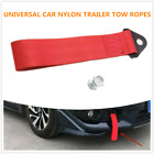 Exterior Ropes Racing Car Universal Tow Eye Strap Tow Strap Bumper Trailer Red