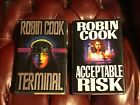 Terminal + Acceptable Risk by Robin Cook Signed First Editions