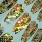 Holographic Forage Minnow Replacement Decals Size 4 5 Gold Lot of 84