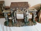 FONTANINI TOWN GATE 5 NATIVITY SET RETIRED LED LIGHTED BUILDING 1997 HEIRLOOM