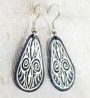 New Earrings Women handmade Damascene Nice Engraving Silver Native Beautiful