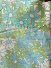 Vintage Fashion Manor Flat Sheet Retro Flower Power 70s Double Flat And Fitted