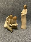2 Willow Tree Cherish Pregnant Woman  New Life Family Very Good Used Cond Lot