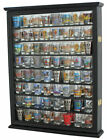 72 Shot Glass Shooter Display Case Rack Wall Cabinet Shadow Box SC13 BLA