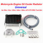 1Kit  Black Universal Motorcycle CNC Aluminum Engine Oil Cooler Cooling Radiator