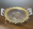 Tiffin Gold Encrusted Glass Handle Art Deco Dish Plate