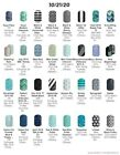 Black Blue  Green Graphic designs Jamberry nail wraps HALF sheets
