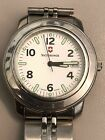 Vintage Swiss Army Victorinox Officer Watch White face Steel 2-4-6-8  Hour dial