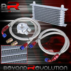 9 Row An10 10An Engine Transmission Oil Cooler Kit + Silver Filter Relocation