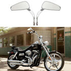 Chrome Motorcycle Mirrors For Harley Dyna Wide Glide Electra Glide Ultra Limited