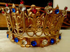 Large Antique French Church Statue Crown Lily Jewels Beautiful 10Dia